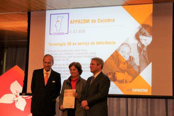 APPACDM de Coimbra recebeu Menção Honrosa do Prémio BPI Capacitar