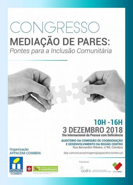 I Congresso Mediação de Pares: Pontes para a Inclusão realiza-se a 3 de dezembro