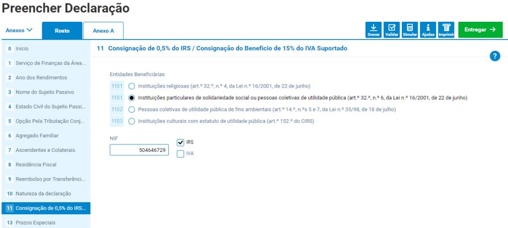 CONSIGNAÇÃO 0,5% IRS APPACDM COIMBRA