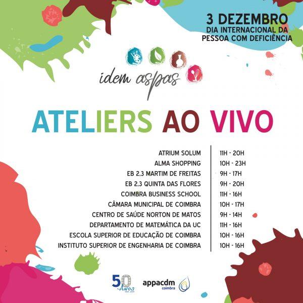 APPACDM de Coimbra realiza ateliers ao vivo dos seus produtos